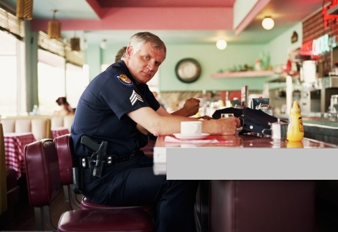 Policeman-coffee
